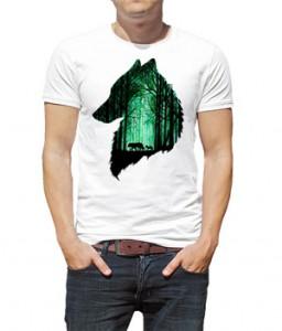 تی شرت حیوانات با طرح گرگ
