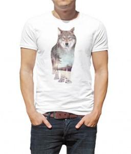 تی شرت با طرح گرگ