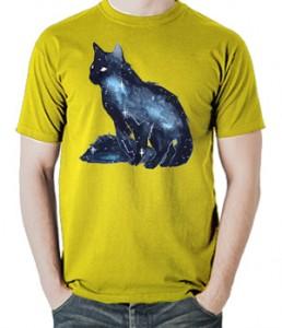 تی شرت حیوانات طرح گربه watercolor