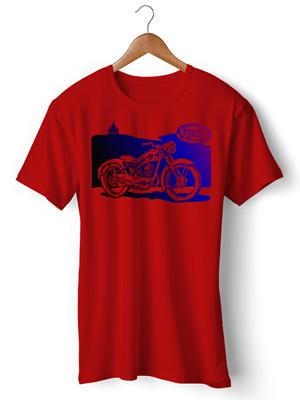 تیشرت موتور سواری طرح motorbike