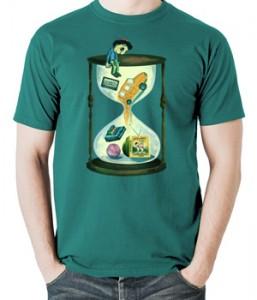 تی شرت ایرانی طرح اختصاصی ساعت شنی