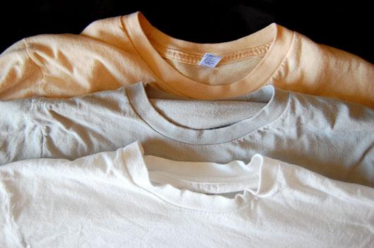 شستن تی شرت ها